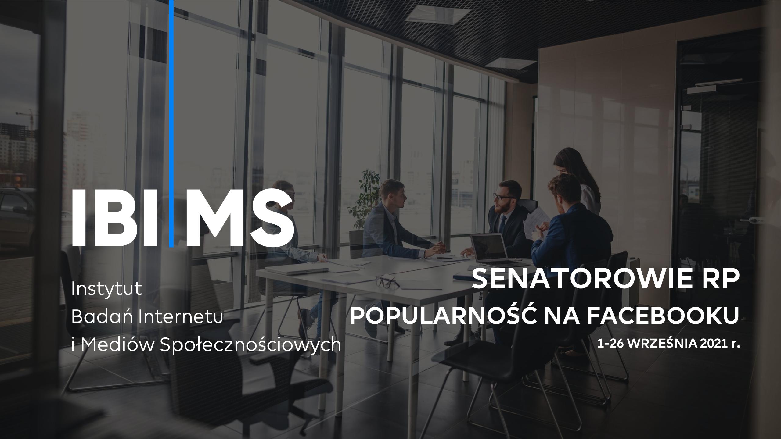 Ranking – aktywność senatorów na Facebooku (1-26 września 2021)
